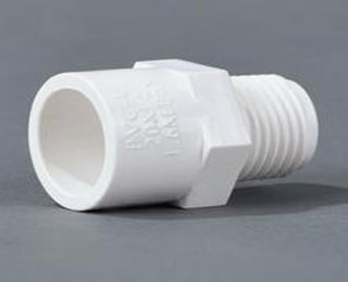 联塑PVC U环保给水管注塑粘接管件系列外丝直接头
