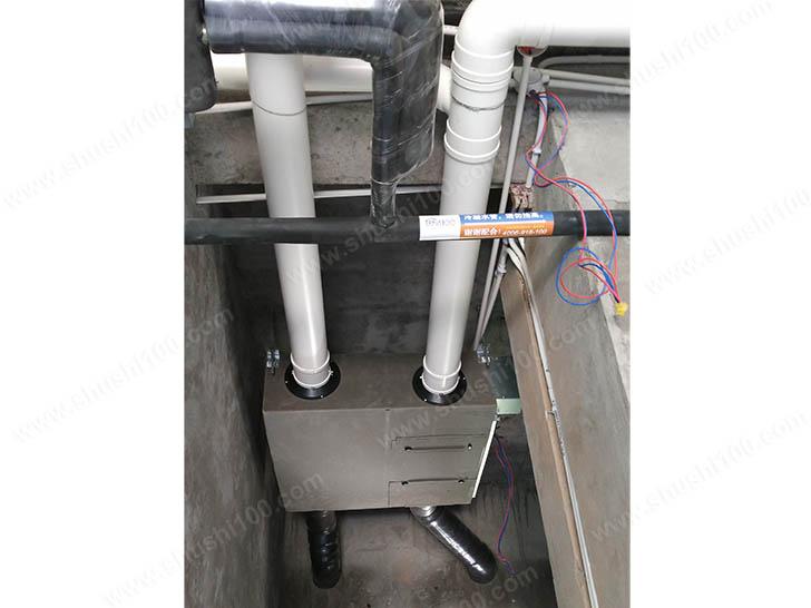 新风系统施工图 松下全热交换器主机安装