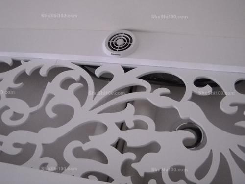 松下新风系统室内风口效果图,完美融于室内装潢