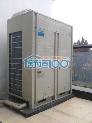 大金中央空调室外机安装完毕