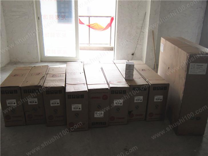 直击武汉融侨锦江中央空调、暖气片、新风系统、中央净水安装工程