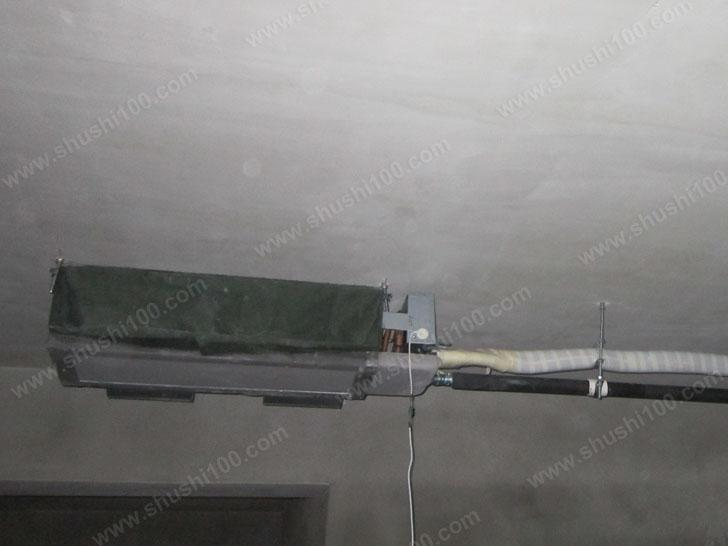武汉琴园小区风管机、暖气片工程案例安装工程展示