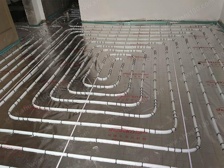 地暖安装 地暖盘管间距均匀