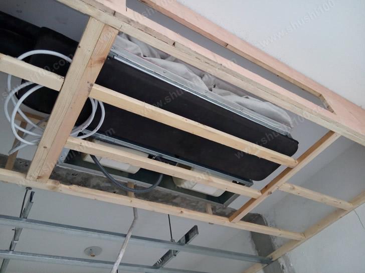 风机盘管吊顶正在安装